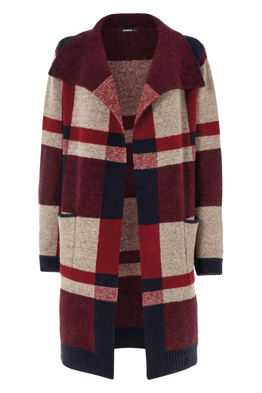Checked woolen coat, £40, ROMAN