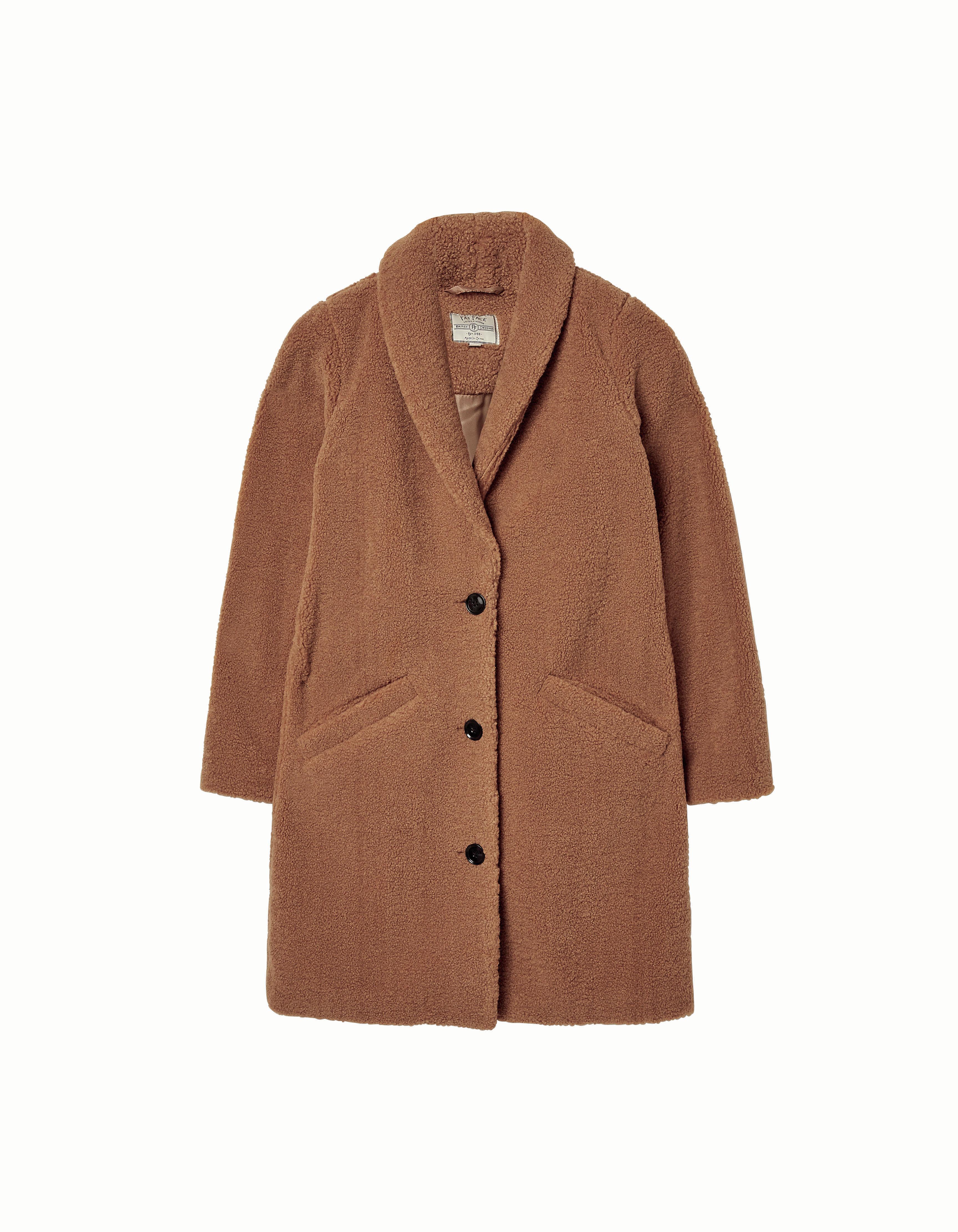 Caroline Teddy Coat in Biscuit £89, FatFace