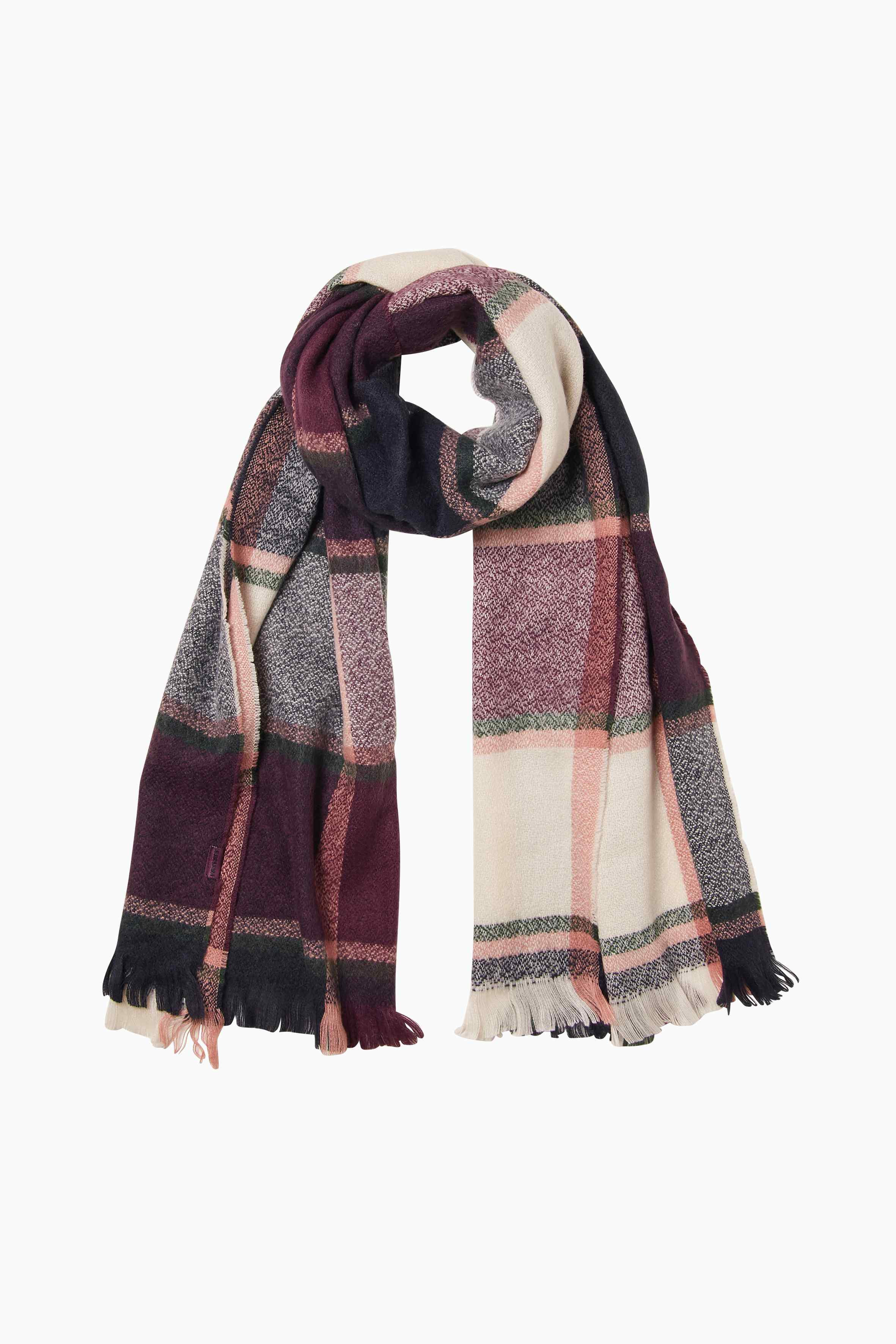 Check mid weight scarf, £29.50, FatFace