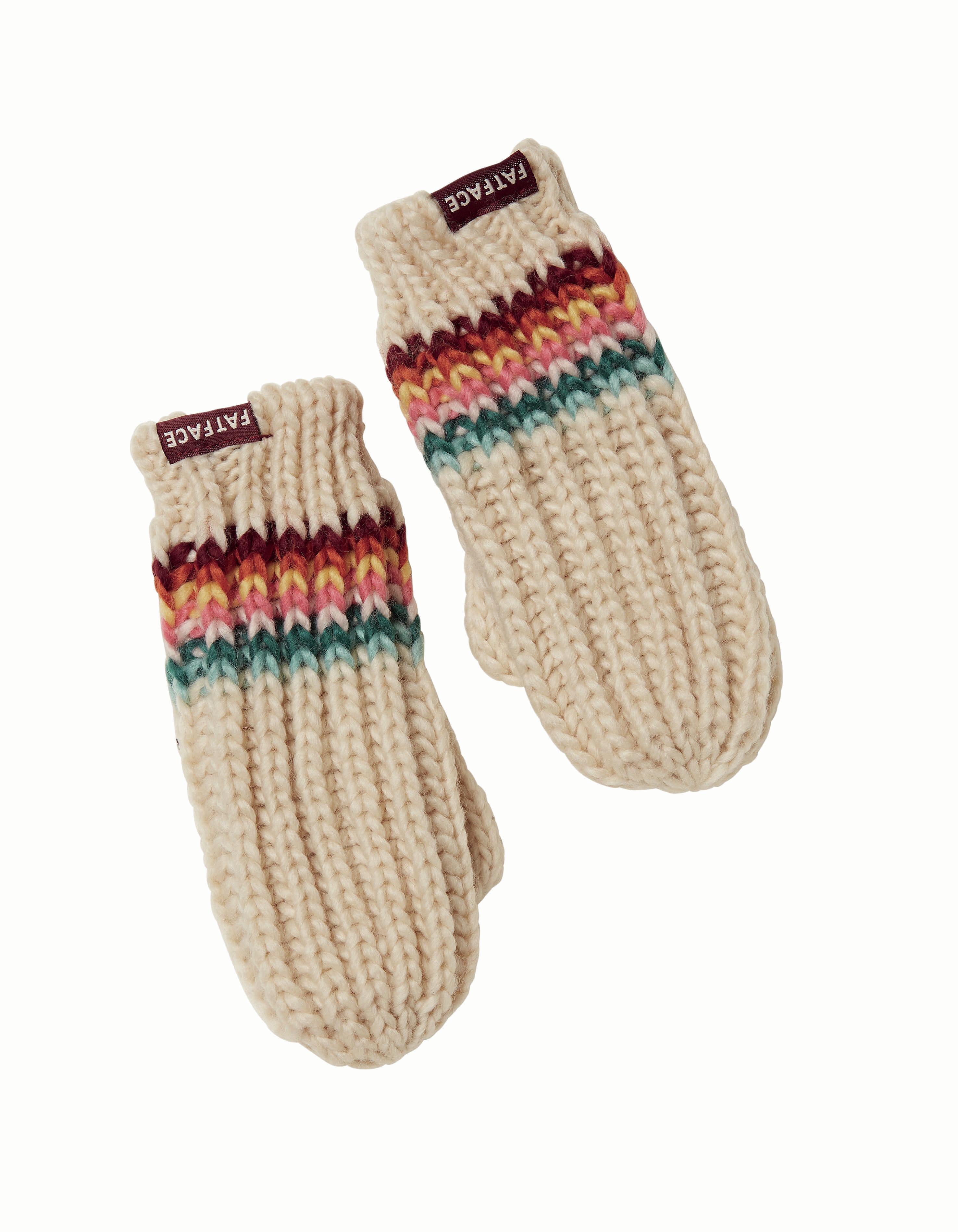 Rachel stripe mittens, £9.50, Fatface
