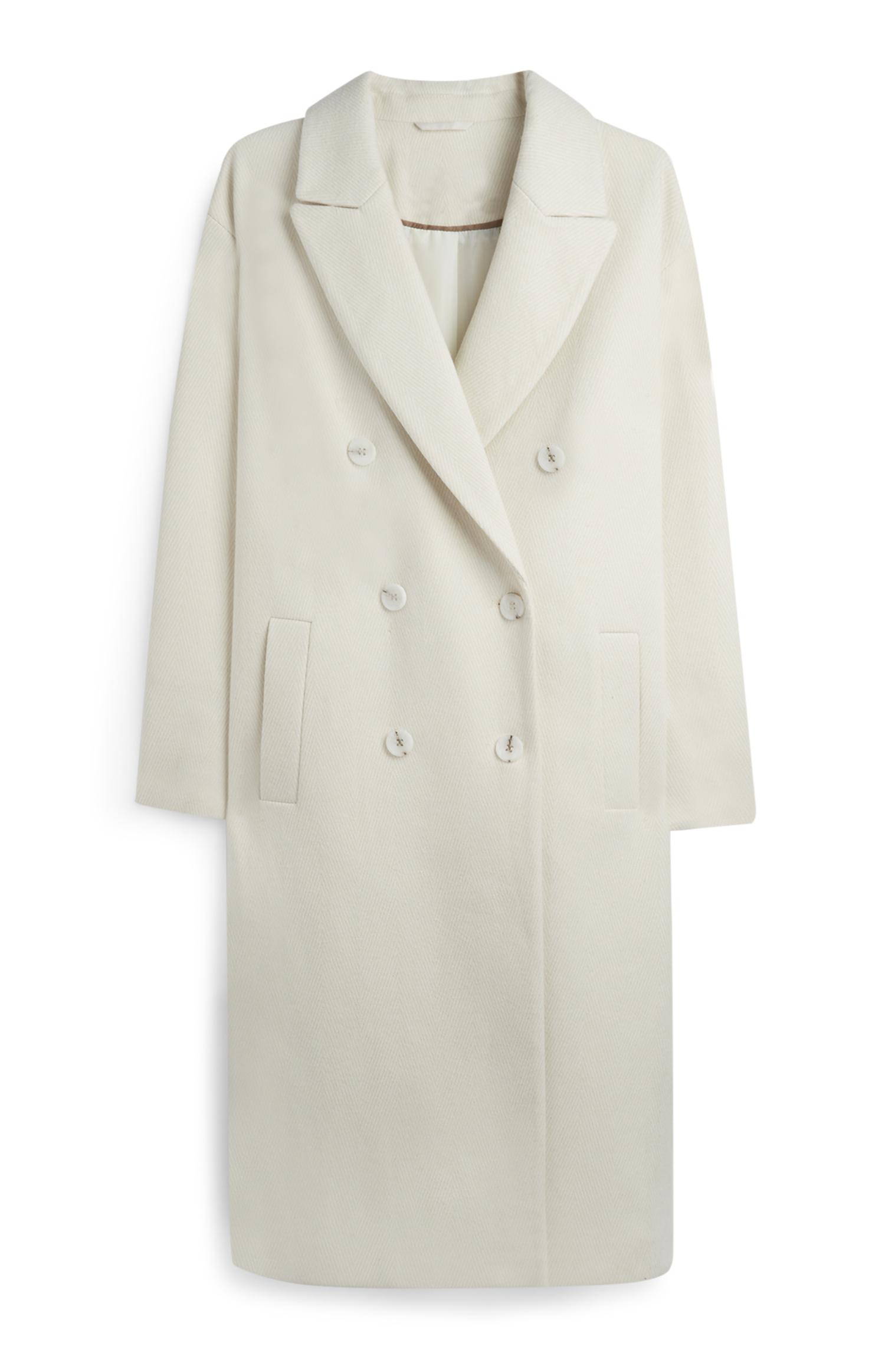 Herringbone longline coat, £30, Penny's