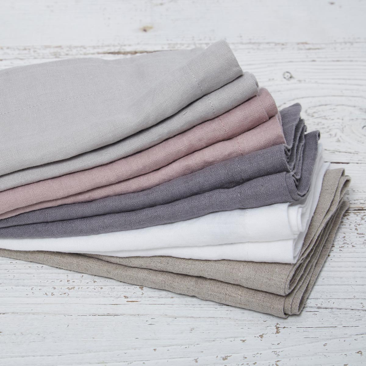 Dove grey linen place mats, £28, Tolly McRae