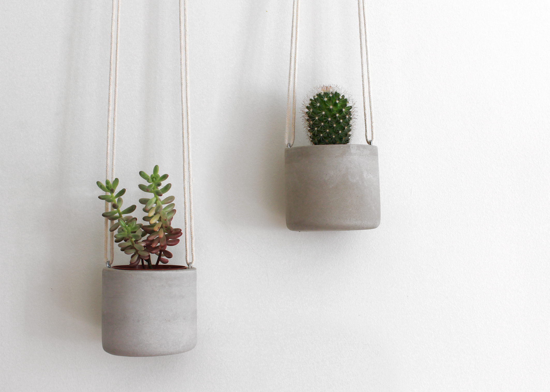 Mini hanging concrete planter, £19.95, Mint & May