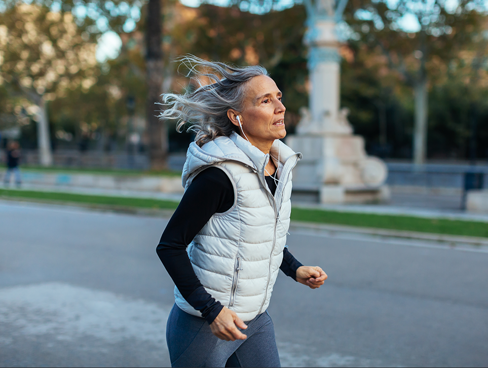 Running improves physical and mental wellbeing all at once.