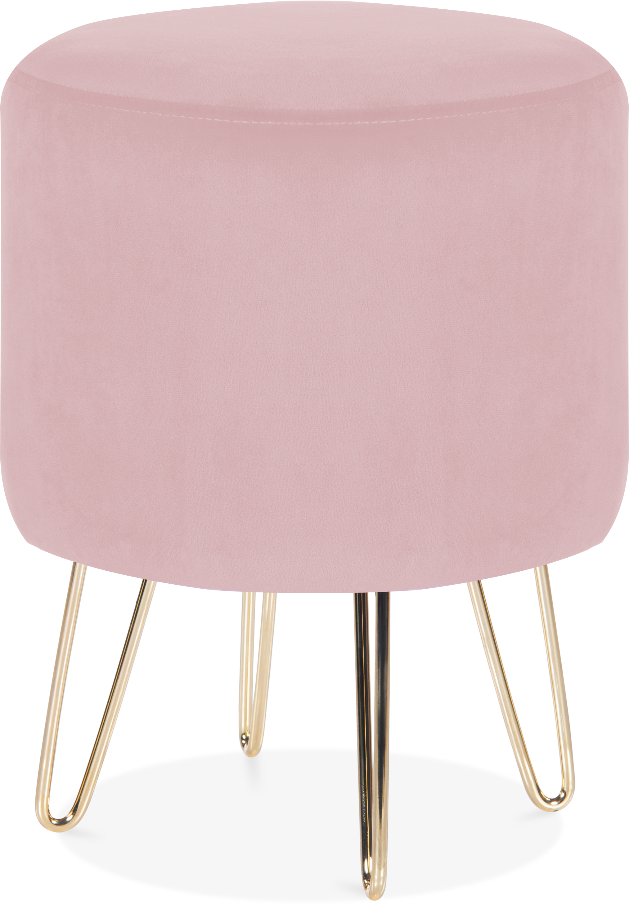 Velvet Paloma round footstool, £49, Cult Furniture