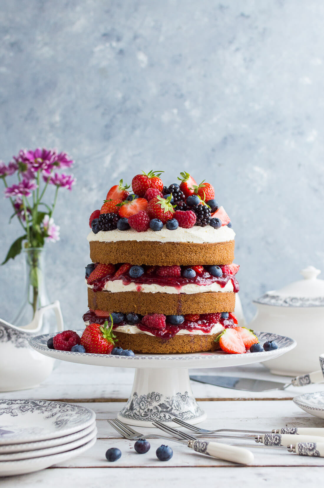 Tempted by this beautiful cake? Start your own Veganuary with this simple vanilla sponge