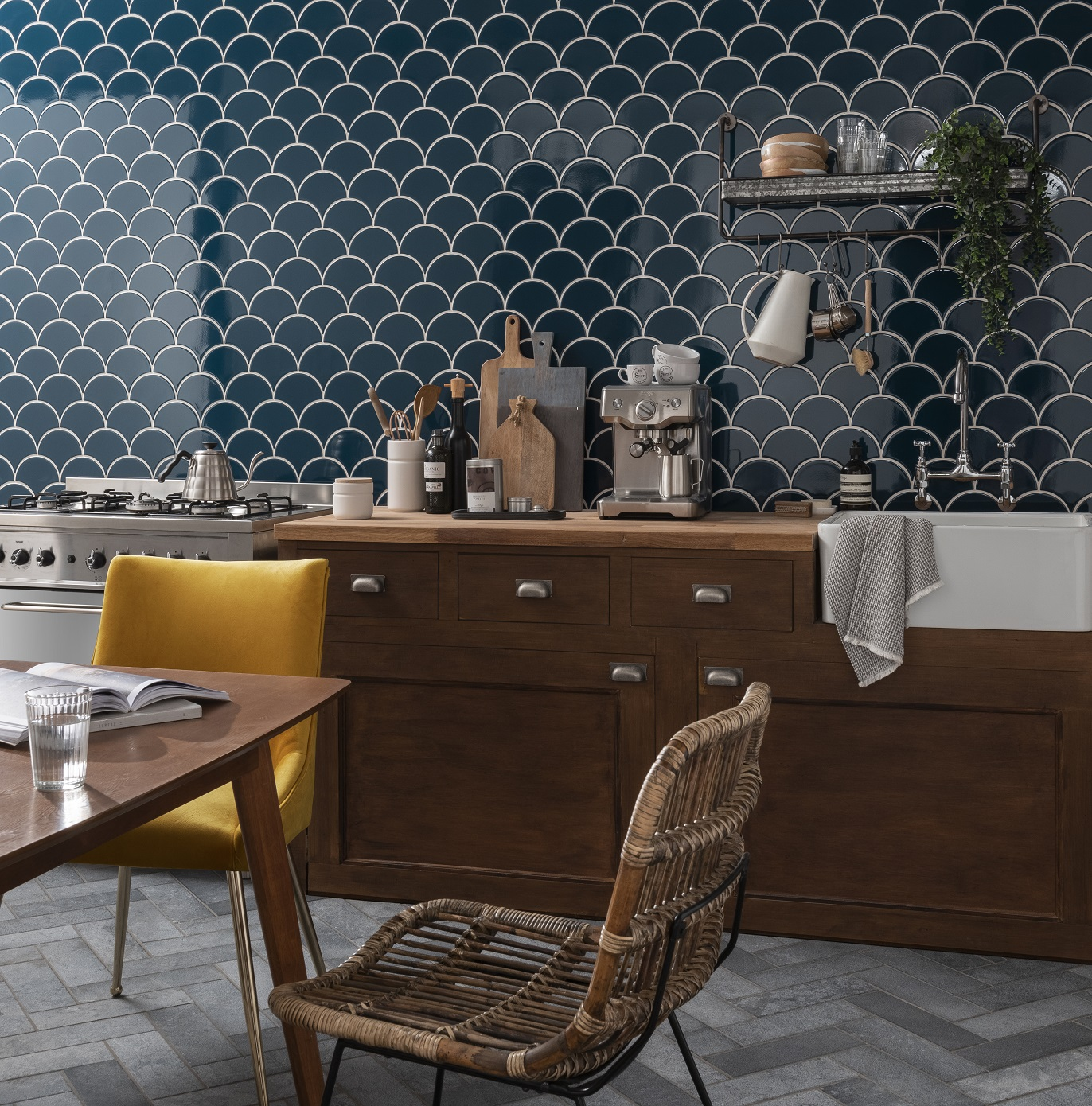 Tile trends are blending modern with traditional for sleek and pretty interior design