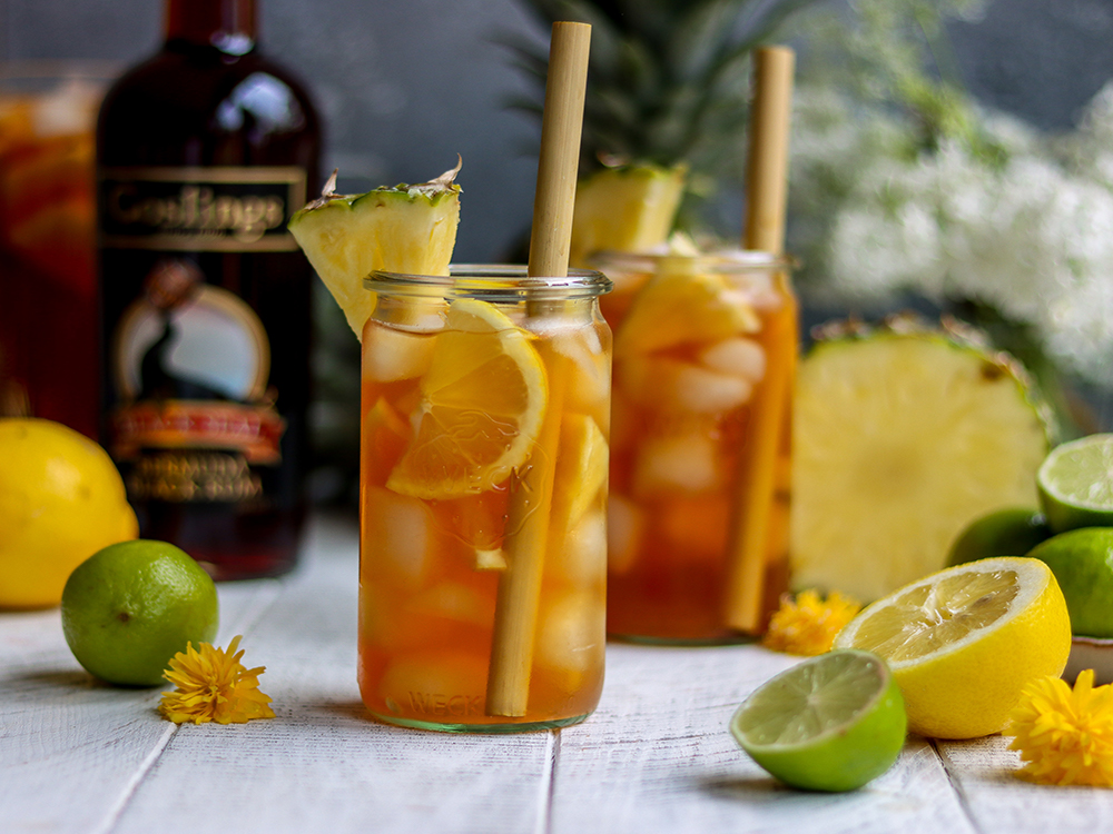 National Tea Day - enjoy this fruity rum punch on a summer's day!