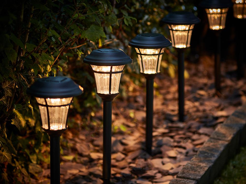 Solar garden lamps, £29.99, Festoon
