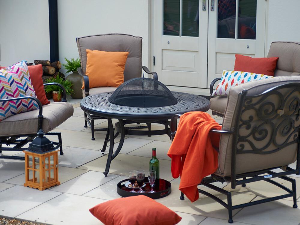 Sorrento fire pit table, £1699, BRIDGMAN