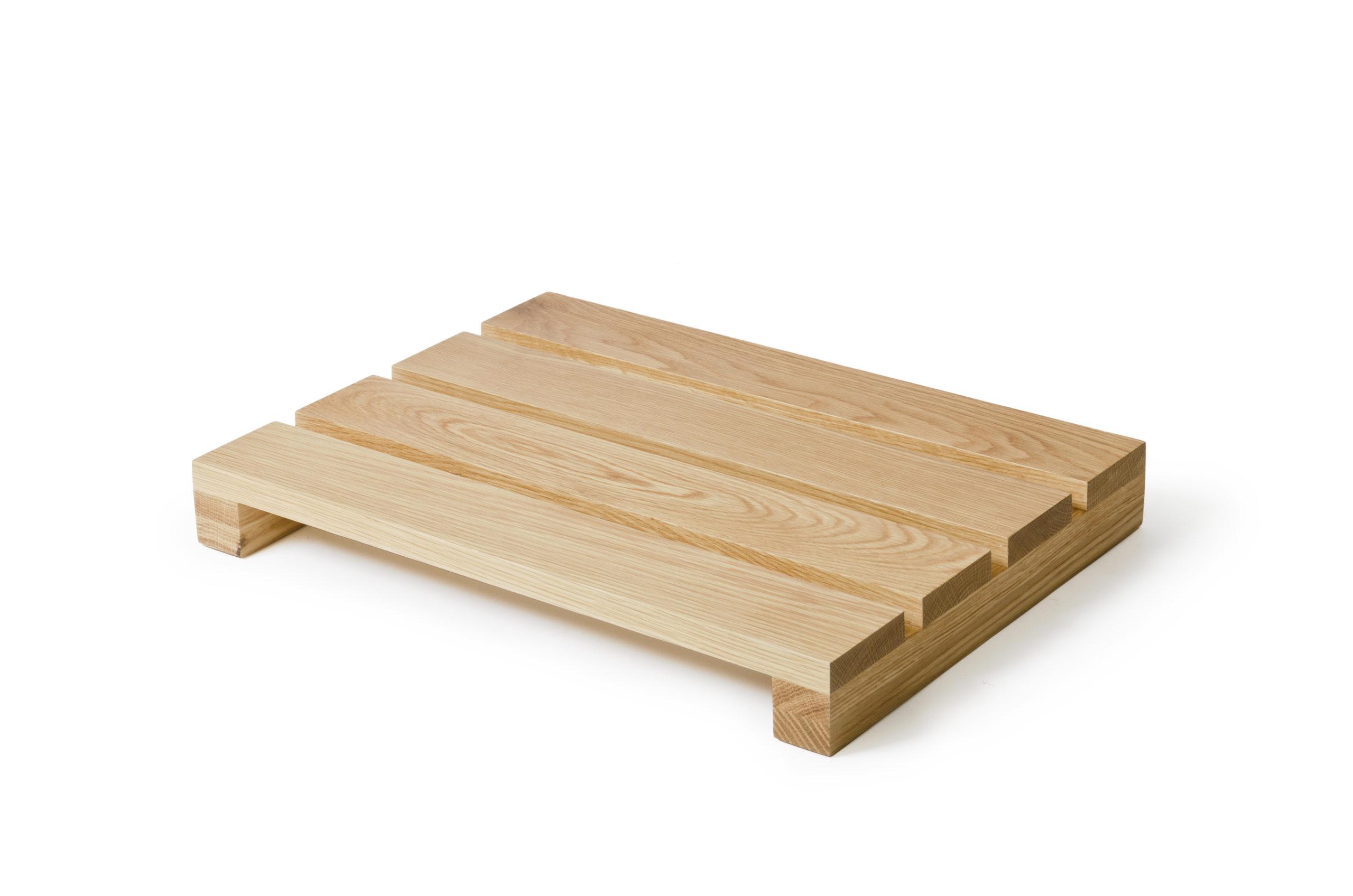 Wooden bath mat, £69, Lime Lace