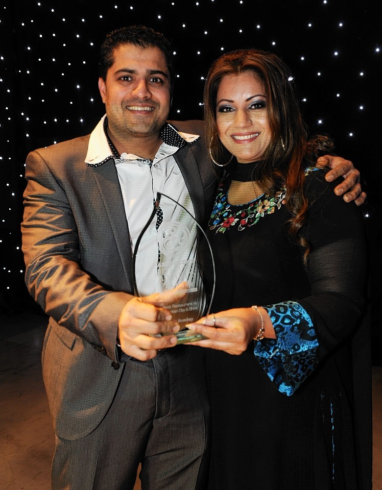 Khuram Shahzad and his wife Sidra Khuram from Cafe Bombay who won Best Overall Restaurant at the inaugural awards last year