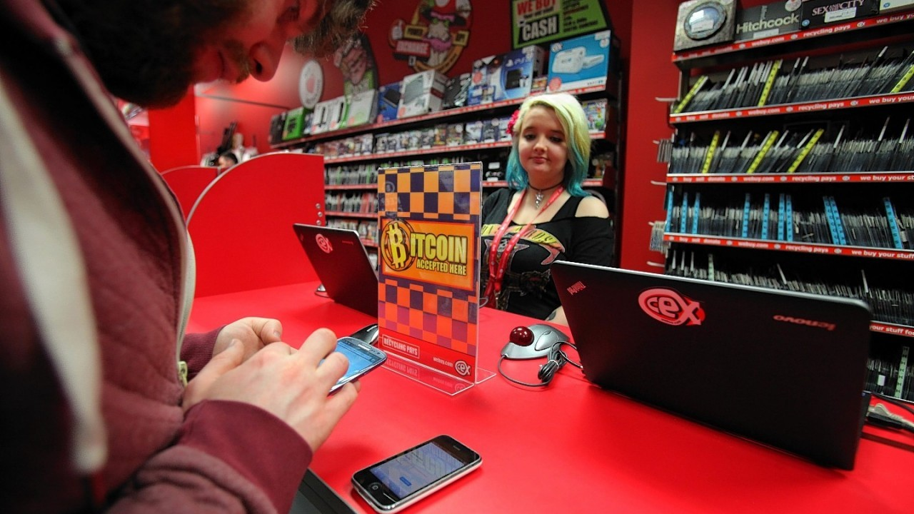 The CEX store on Sauchiehall Street in Glasgow that are the first retailer to trade exclusively in the virtural currency Bitcoin