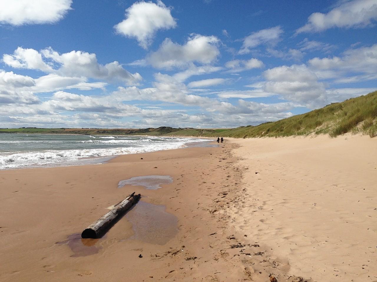 Cruden Bay beach.