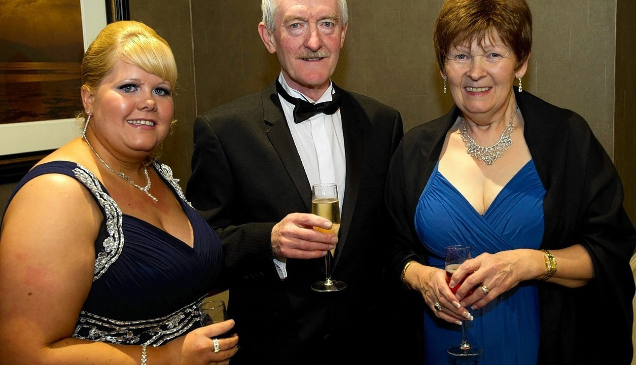 Jodie MacKay with Bob and Kath Fraser.