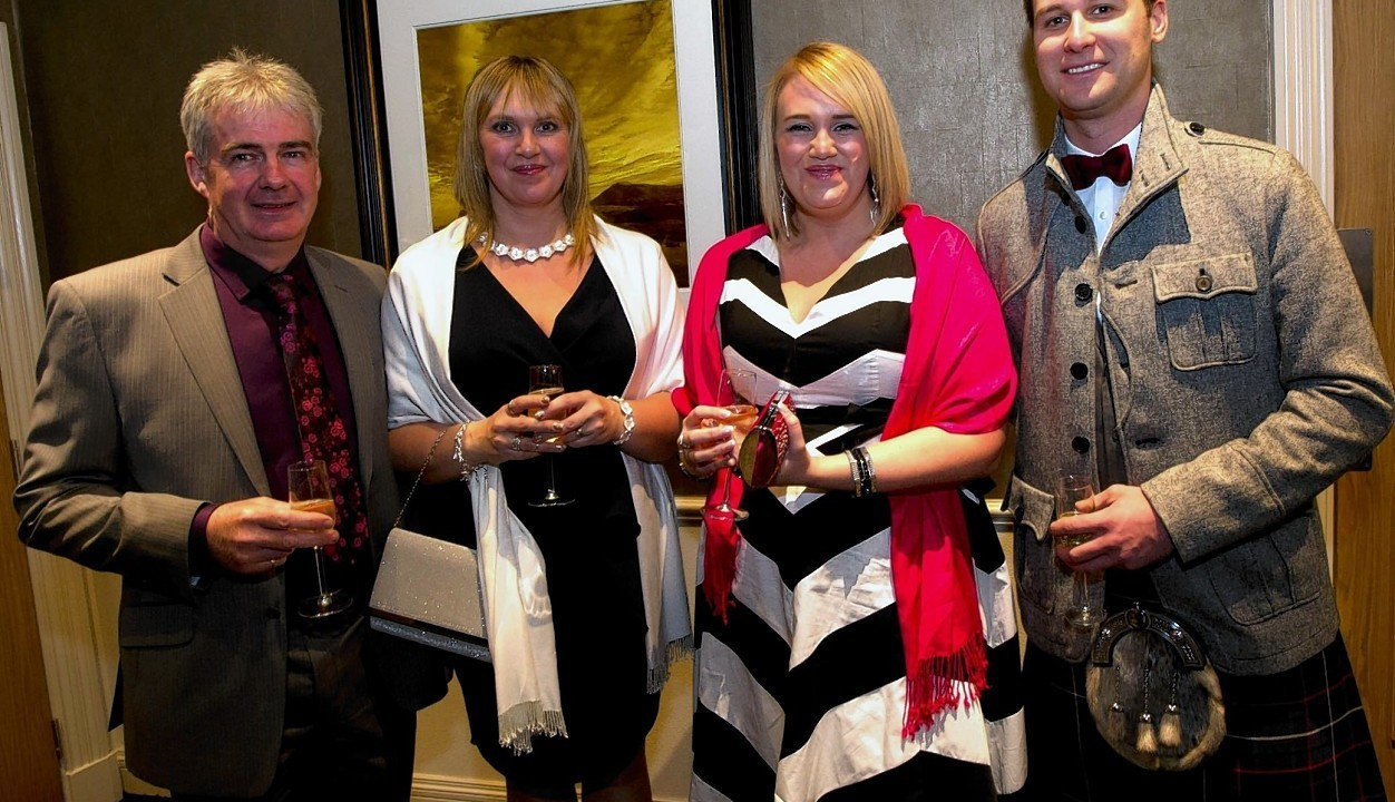 Barry and Karen Cradock with Tracey Ross and Stewart Murdoch.
