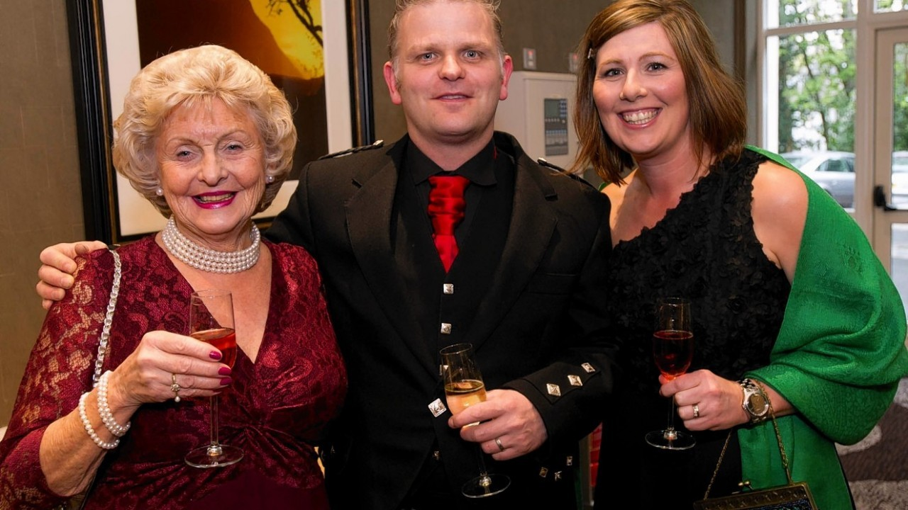 Eileen Melrose with Paul and Nicola Thomas.