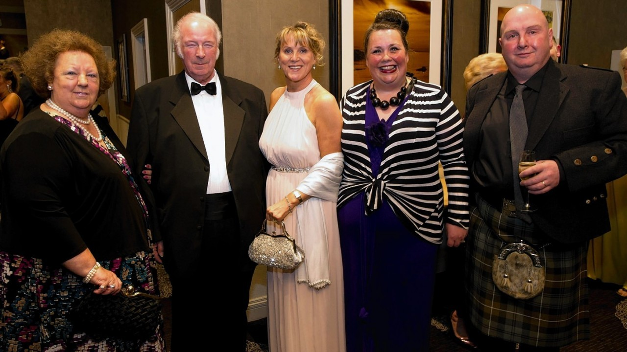Patricia and Roddy Ross with Lesley matheson, Jeya and Kenneth Calder.