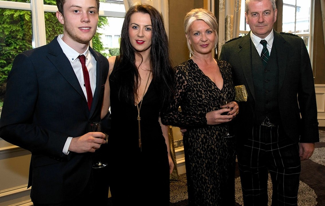 Craig Russell, Leah Grandison, Helen and Alasdair MacLean.