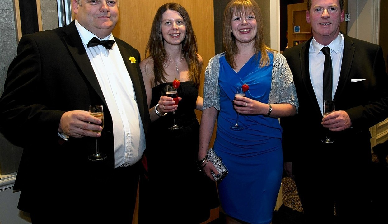 Les and Claire Kidger with Gillian Donaldson and Danny Gallacher.