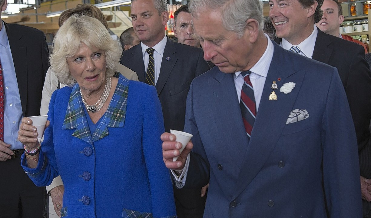 The Prince of Wales and the Duchess of Cornwall during their visit to the Seaport Farmer's Market in Halifax, Canada