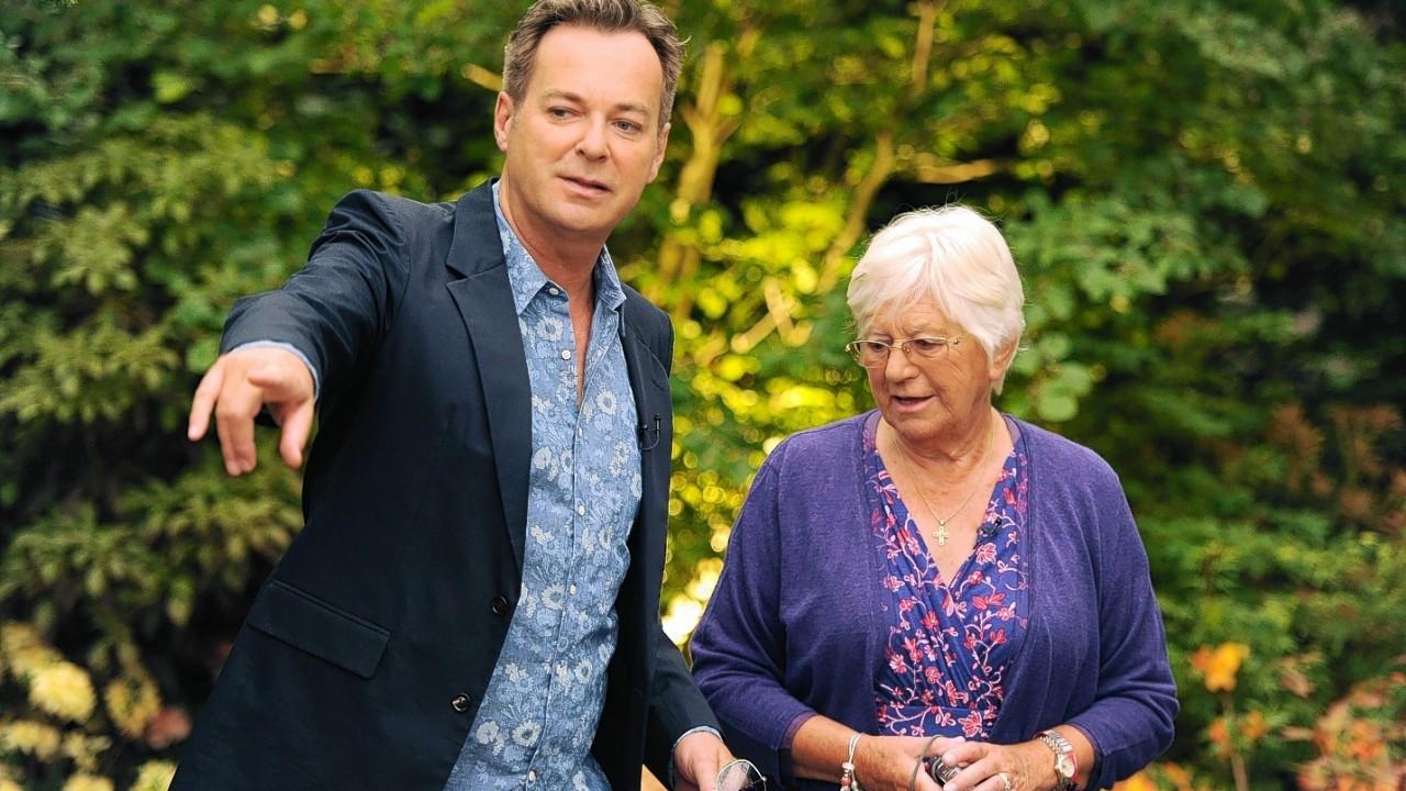 Julian Clary (left) walks around the Hillier Nurseries' Garden at the RHS Chelsea Flower Show