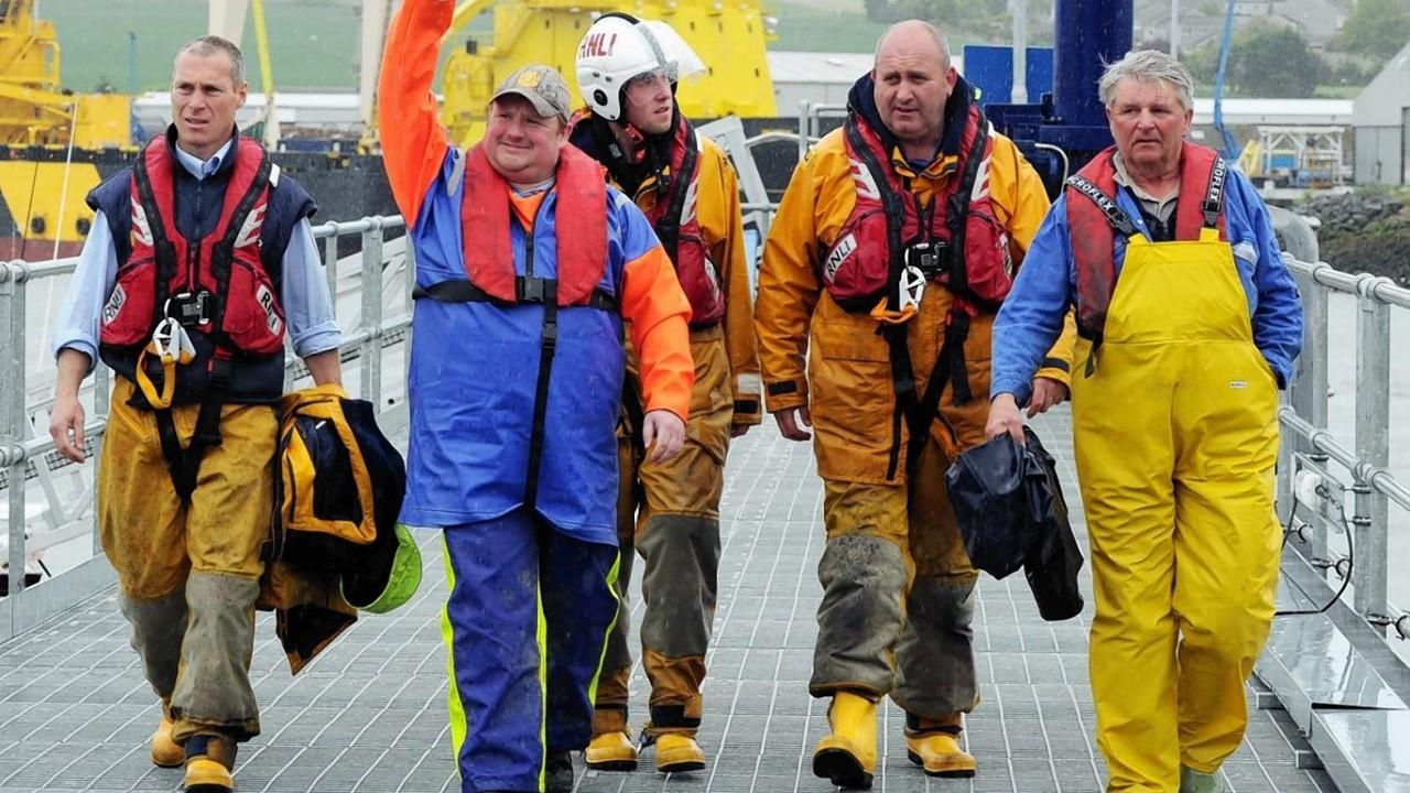 The missing fishermen arrive back on shore