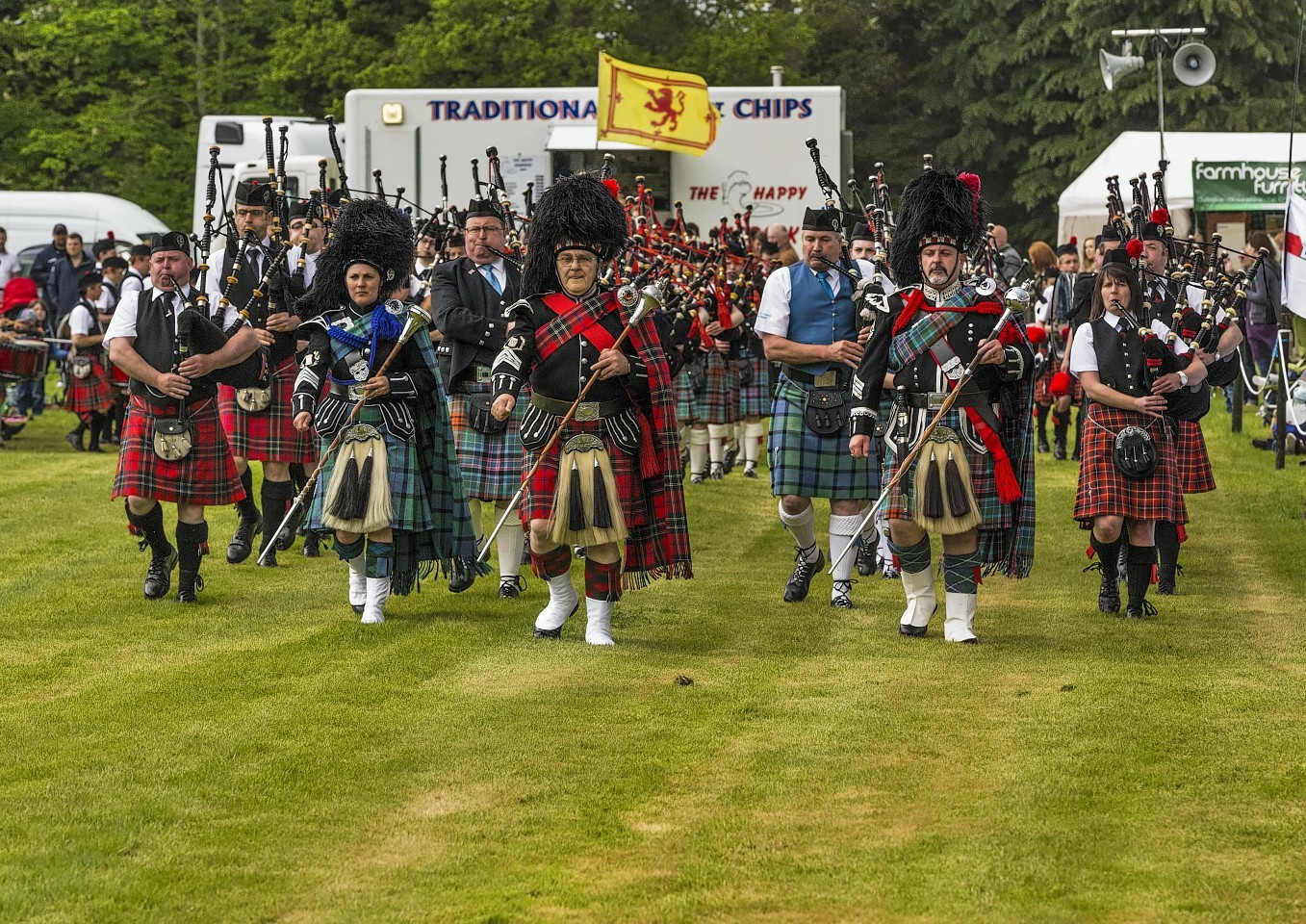Thousands turned out to enjoy Gordon Castle Highland Games