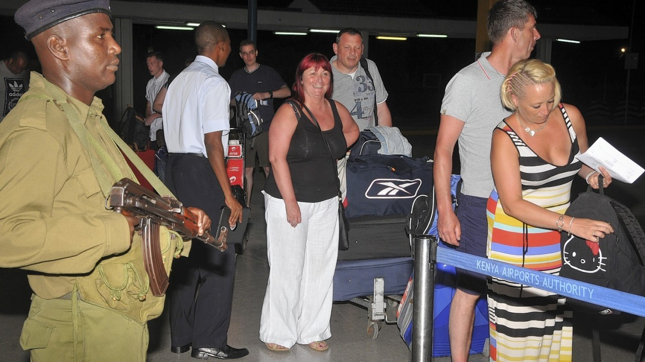 A number of British tourists left the country by charter flight Thursday following a new travel advisory from the British Foreign and Commonwealth Office (FCO) advising against all but essential travel to Mombasa island