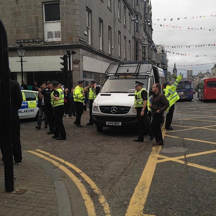 Police on Union Street following concert evacuation