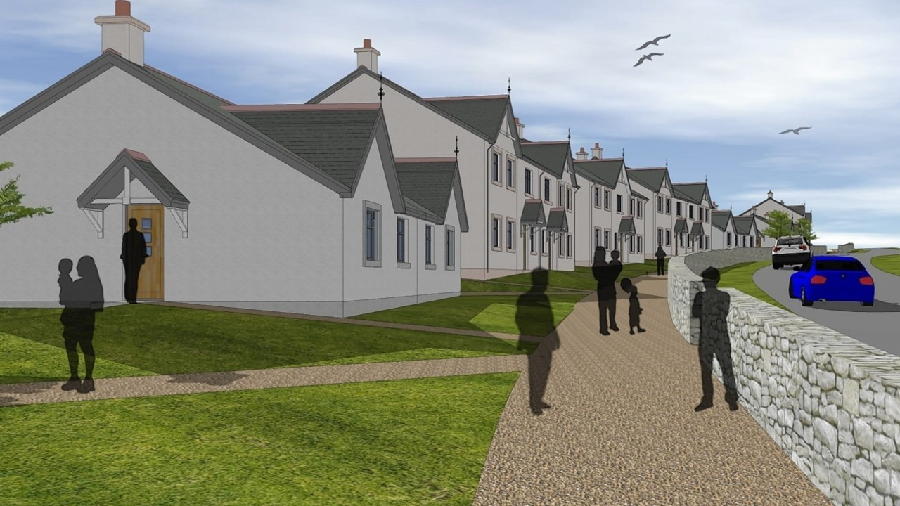 Artist impressions of proposals for Loch of Leys near Banchory