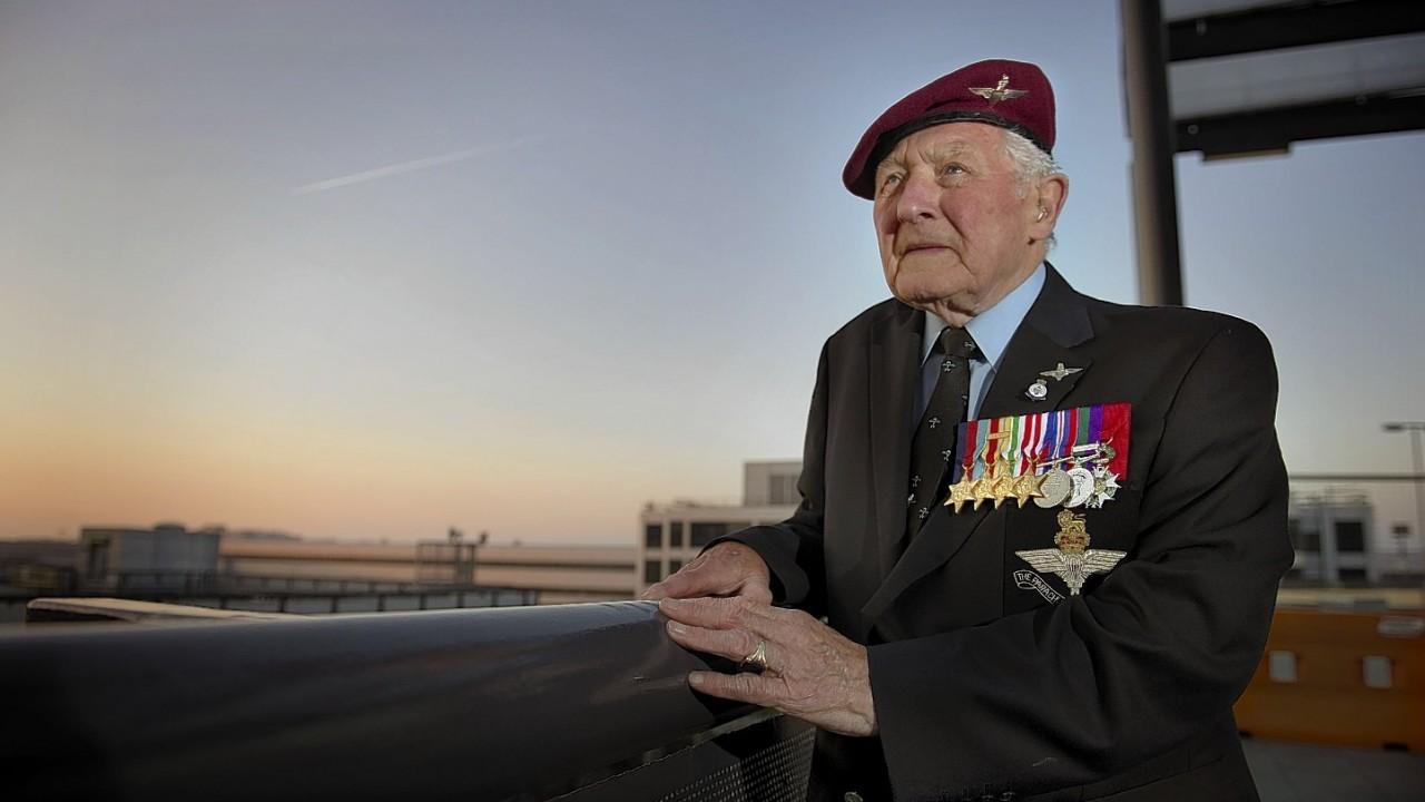 Jim Knox, aged 89 from Upminster with his service medals ahead of his trip to Monte Cassino in southern Italy, funded by a Big Lottery Fund through an award to the Monte Cassino Society of £28,535 from the Heroes Return scheme, to commemorate the 70th anniversary of the Battle of Monte Cassino, where Jim fought as a private with the Independent Parachute Brigade