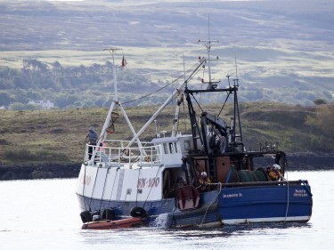 Tobermory lifeboat crew on fishing vessel