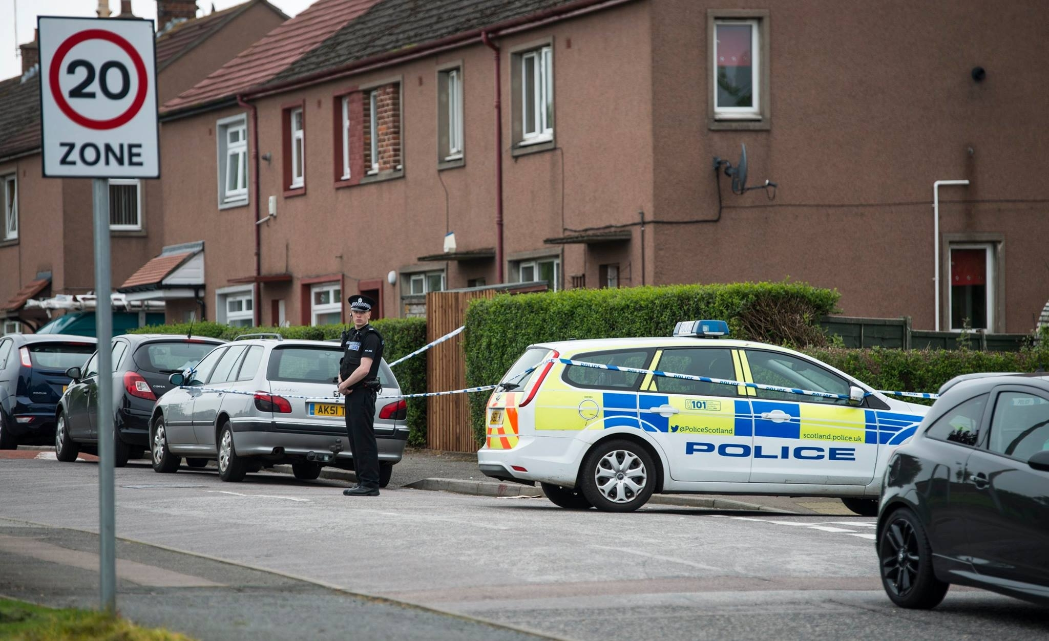 Police were called to a disturbance at an Aberdeen home last night