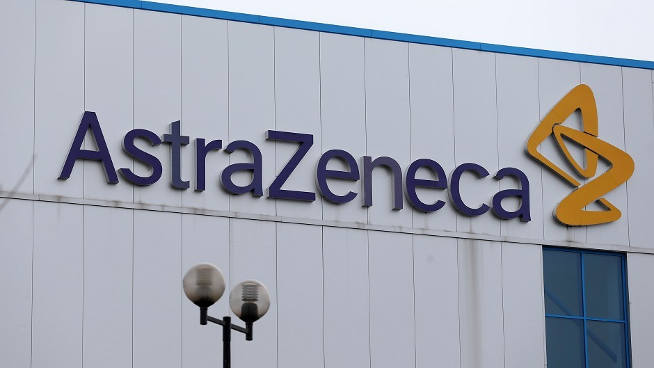 Shares in UK pharmaceuticals group  AstraZeneca have fallen by as much as 3%