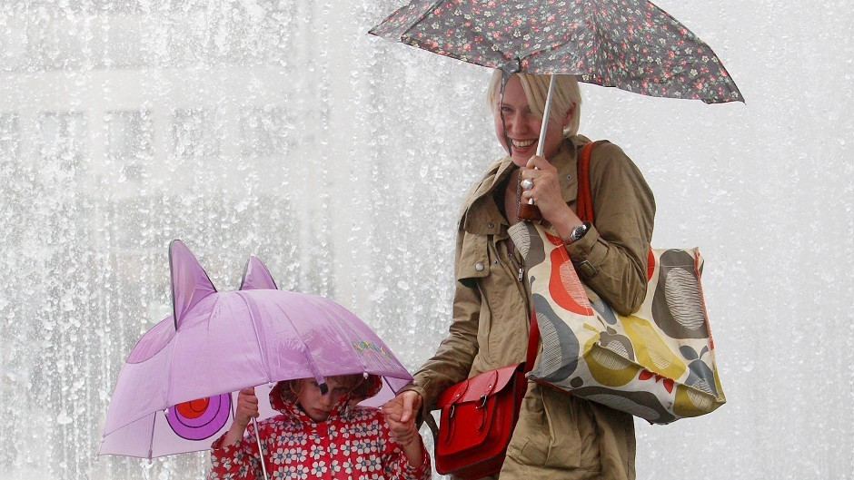 Heavy thunderstorms could hit the north and north-east of Scotland on Saturday.