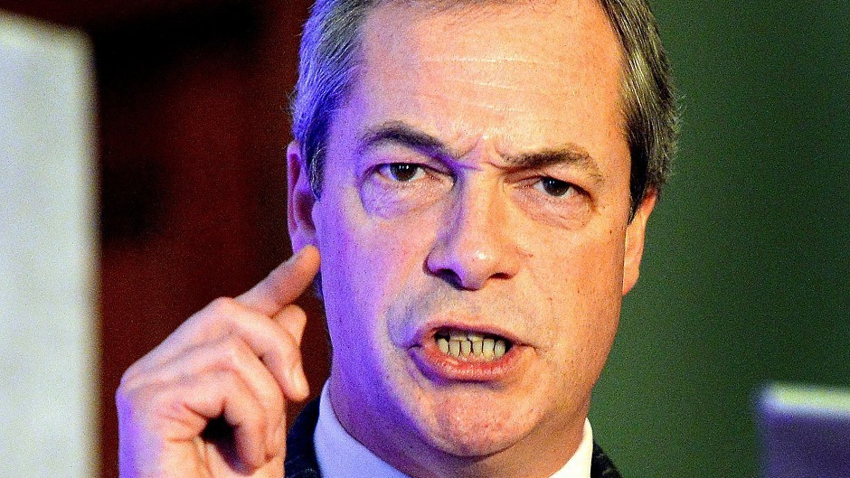 Rival parties have said Farage's UKIP offer a 'false choice' over Europe