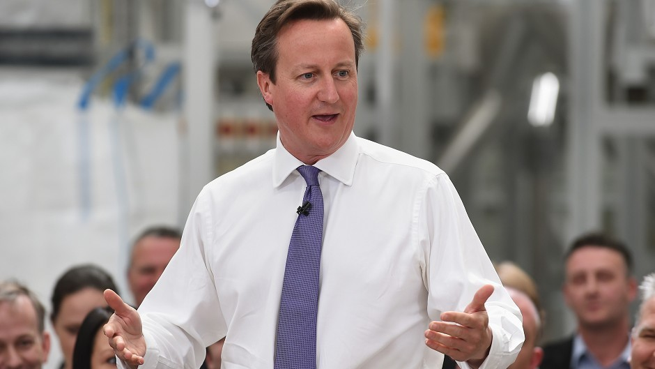 David Cameron visited Aberdeen in February
