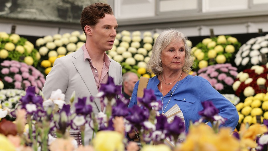 Benedict Cumberbatch with his mother Wanda Ventham during the press day at the RHS Chelsea Flower Show, at the Royal Hospital in Chelsea, London