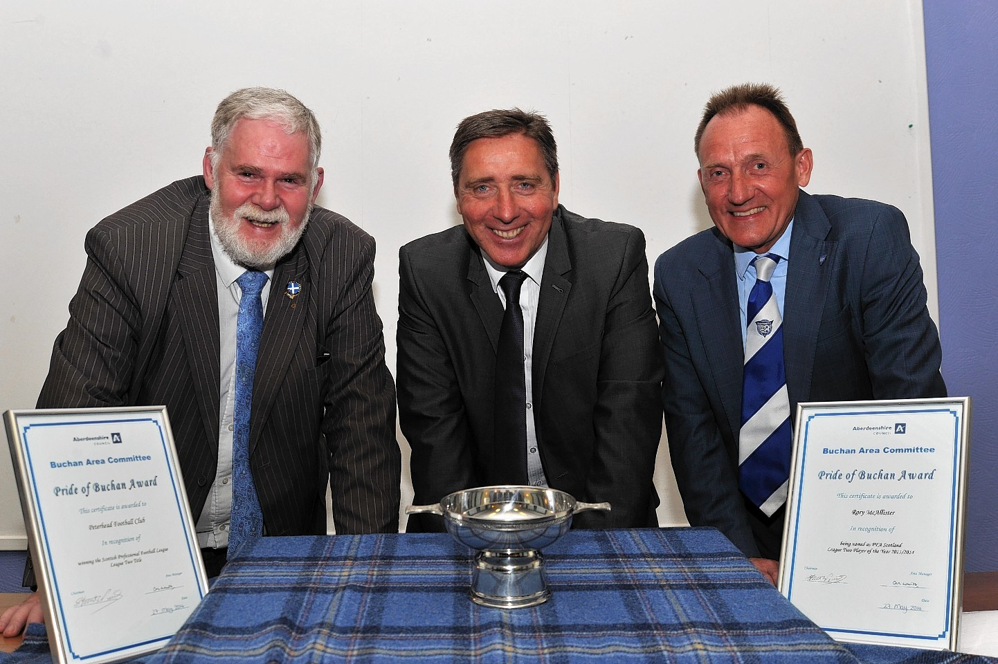 Pride of Buchan award was given to Peterhead FC