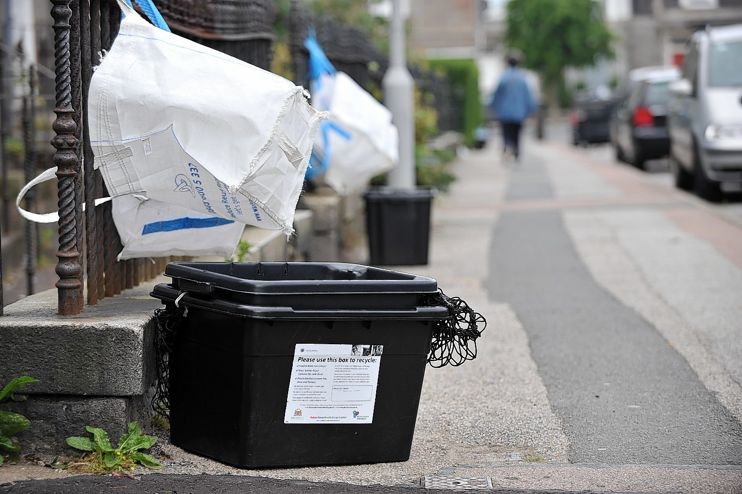Bag and box recycling is currently in use in Aberdeen
