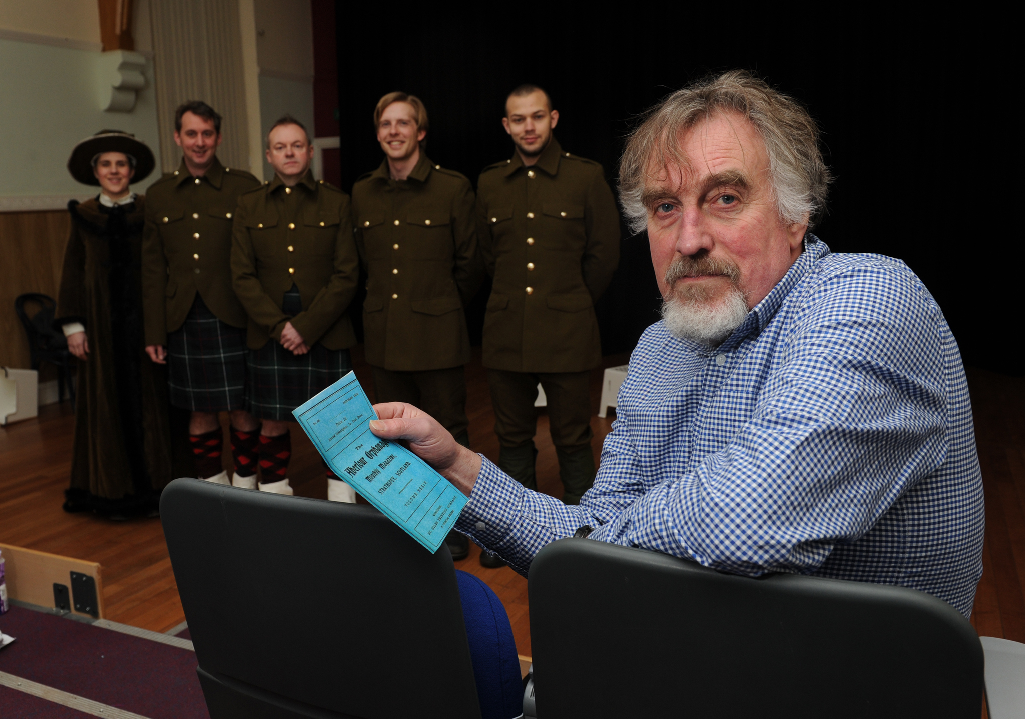 Letters to Aberlour is a new theatre production by New Strides Theatre which draws upon the letters that 'old boys' from the Aberlour Orphanage wrote to the orphanage during the First World War. The play is written by Coldinghams James Urquhart
