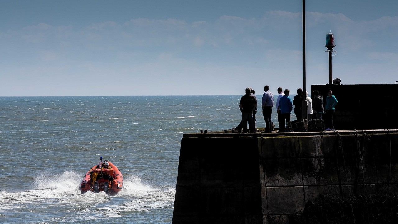 The search for the fishermen went on for two days