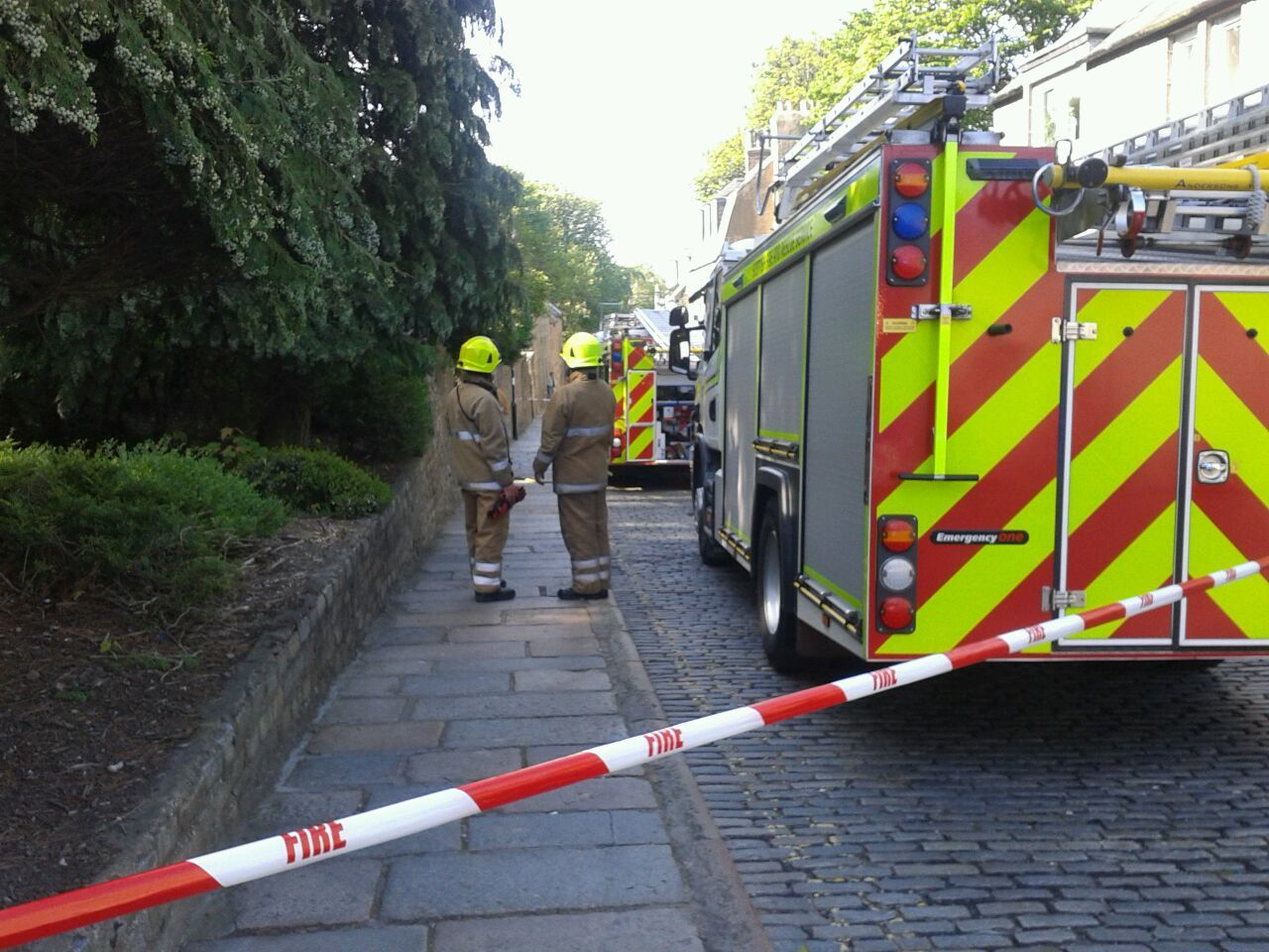 A woman was hospitalised following the fire in Aberdeen