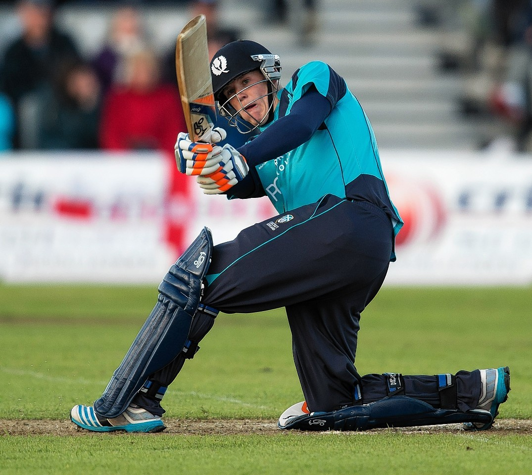 Michael Leask smashed four 6s against England in 2014.