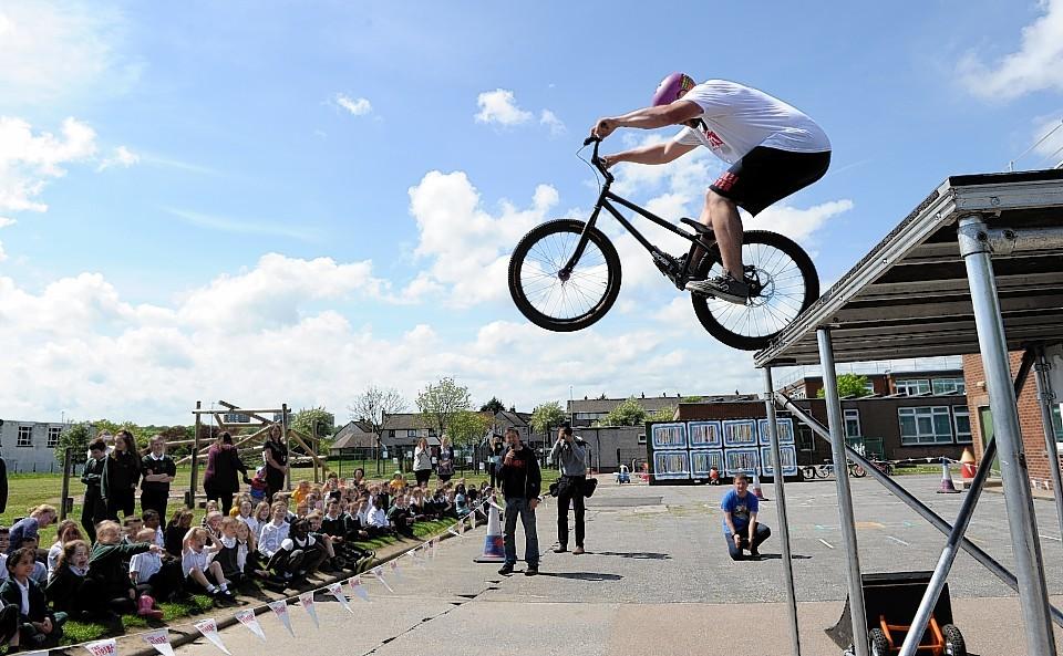 BMX stunts at Fernielea Primary School