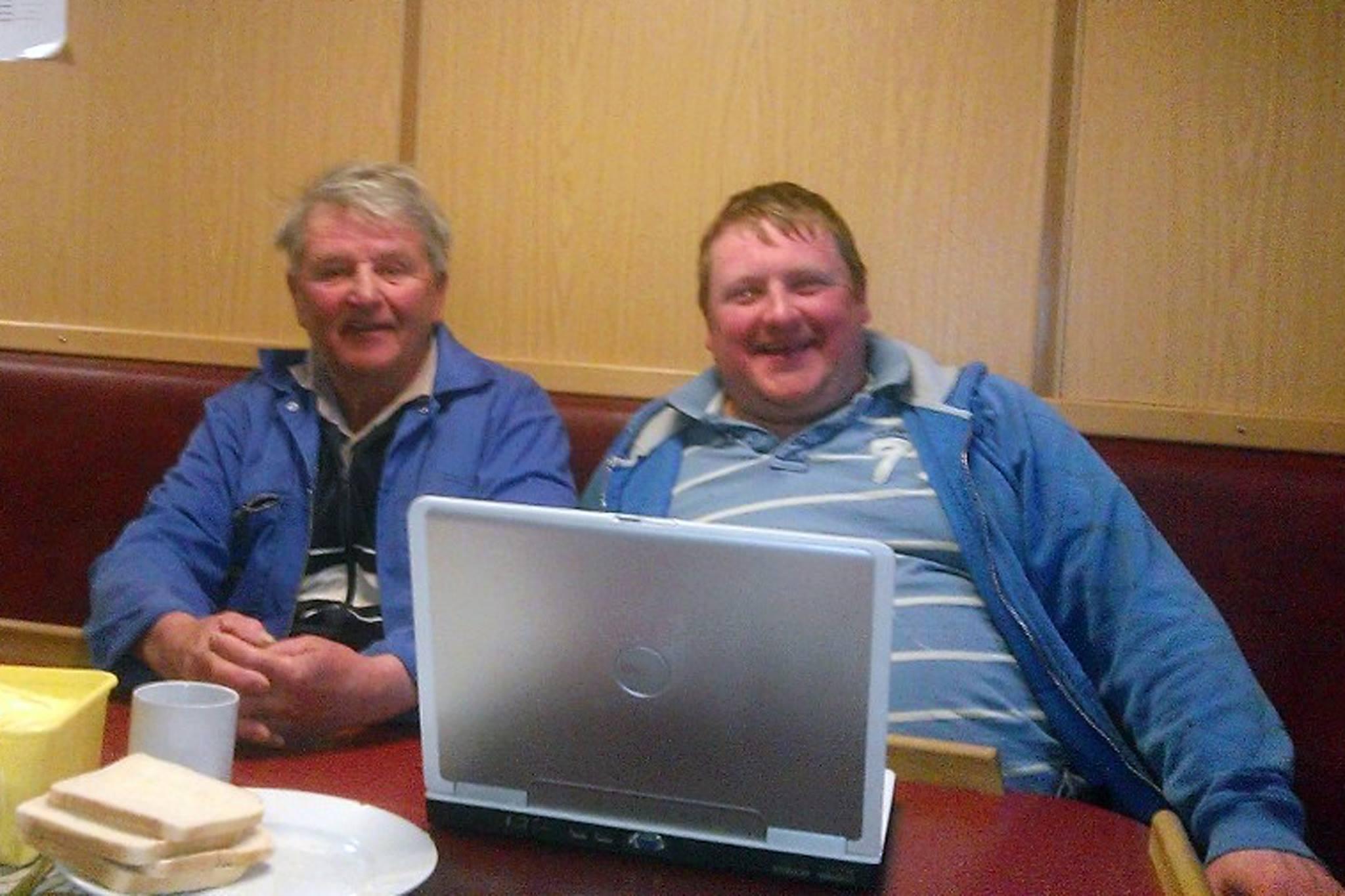 Jim Reid, 70, and grandson David irvine, 35