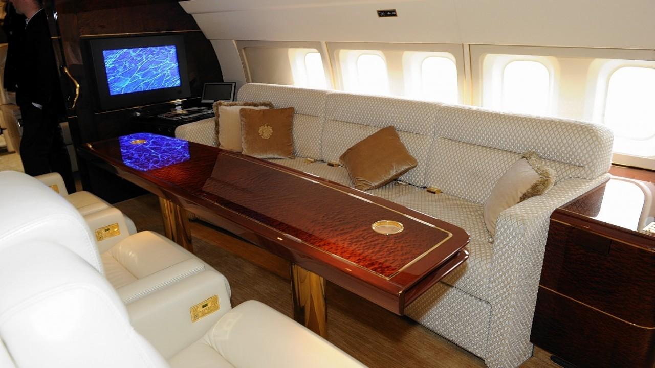 Donald Trump let the P&J look around his luxury jet