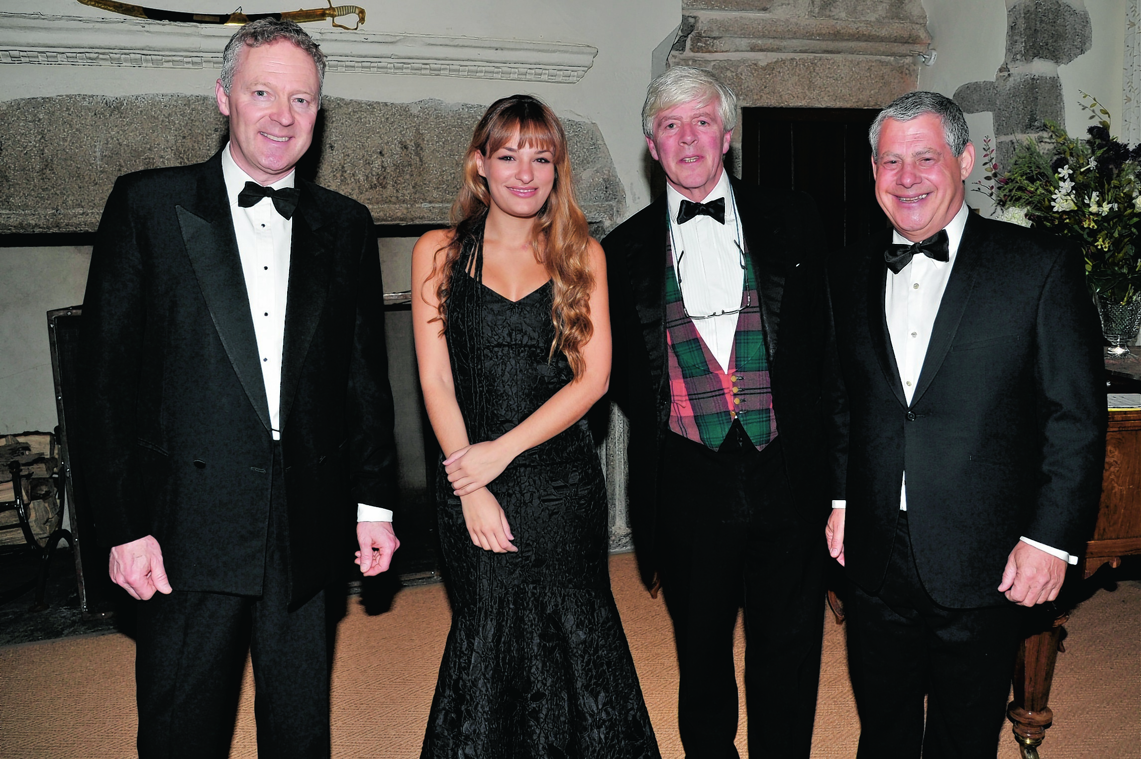 L - R - Rory Bremner, Nicola Benedetti, Lord Lindsay and Sir Cameron Mackintosh