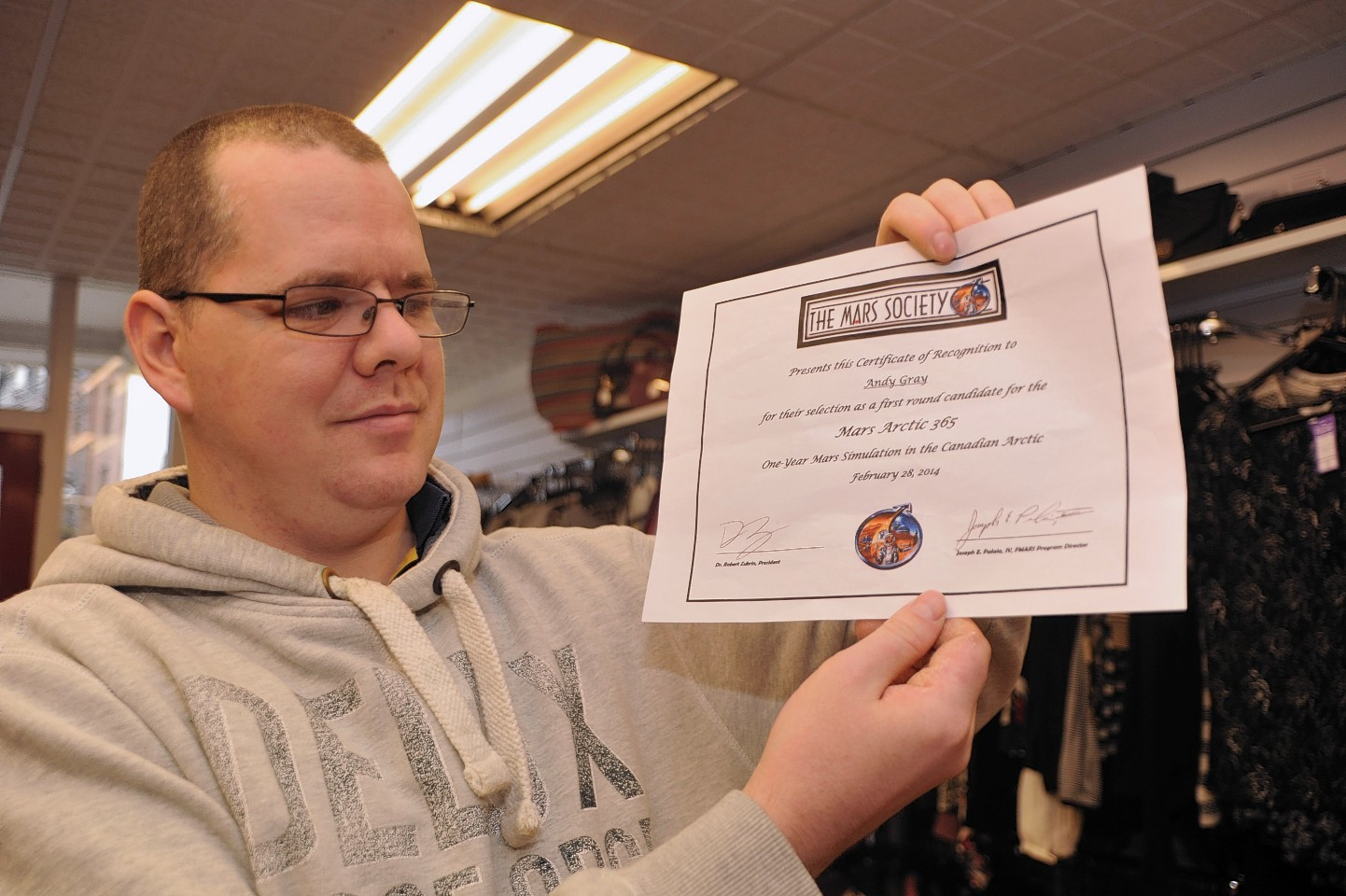 Andy Gray from Peterhead who hopes to be selected for a Mars mission